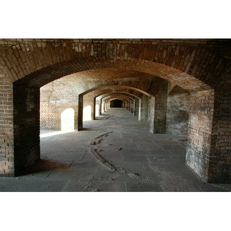 Arched Laminated - LAMINATED POSTER Fort Jefferson Arch Archway Fort Architecture Poster Print 24 x 36