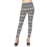 9e16f0b6f1c90 Product Image Cali Chic Juniors' Leggings Celebrity Brushed Snowflakes  Aztec Ankle Soft Stretchy Pants