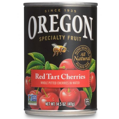 (3 Pack) Oregon Specialty Fruit Red Tart Cherries in Water, 14.5 oz