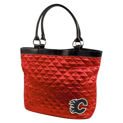 Calgary Flames Quilted Tote
