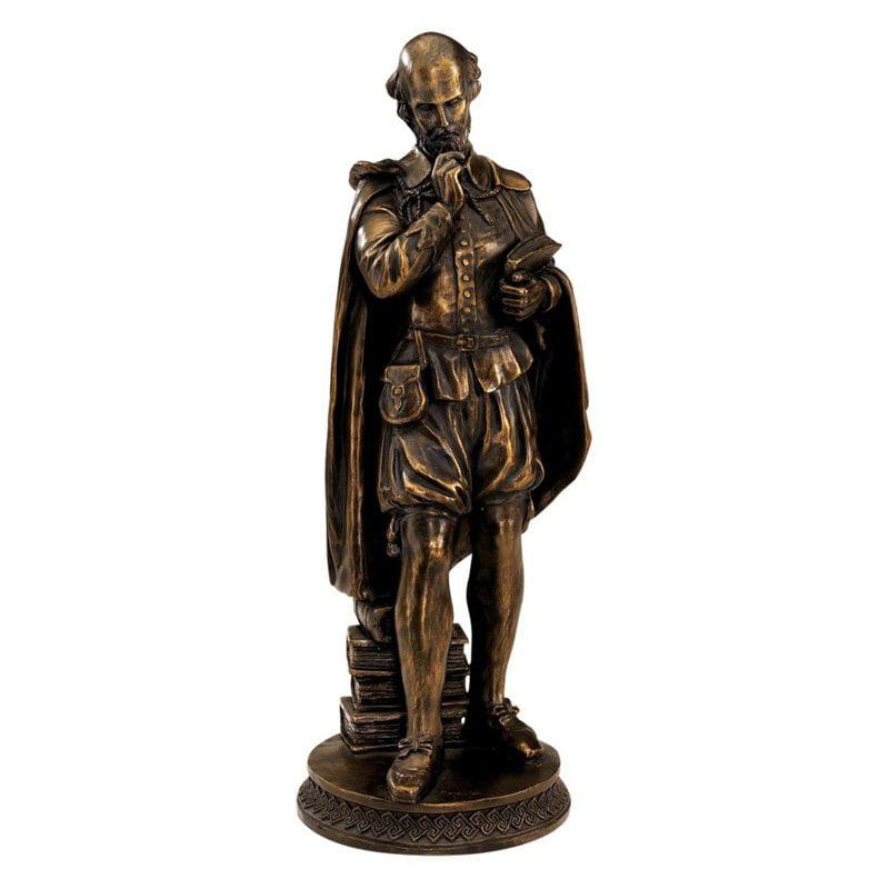Design Toscano 12 in. Pondering Shakespeare Sculpture