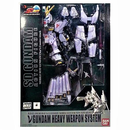 SD Gundam Action Figure RX-93 FA-93HWS V Gundam Heavy Weapon System Amuro (Electrified Gundam Rx 93 2 Hi V)