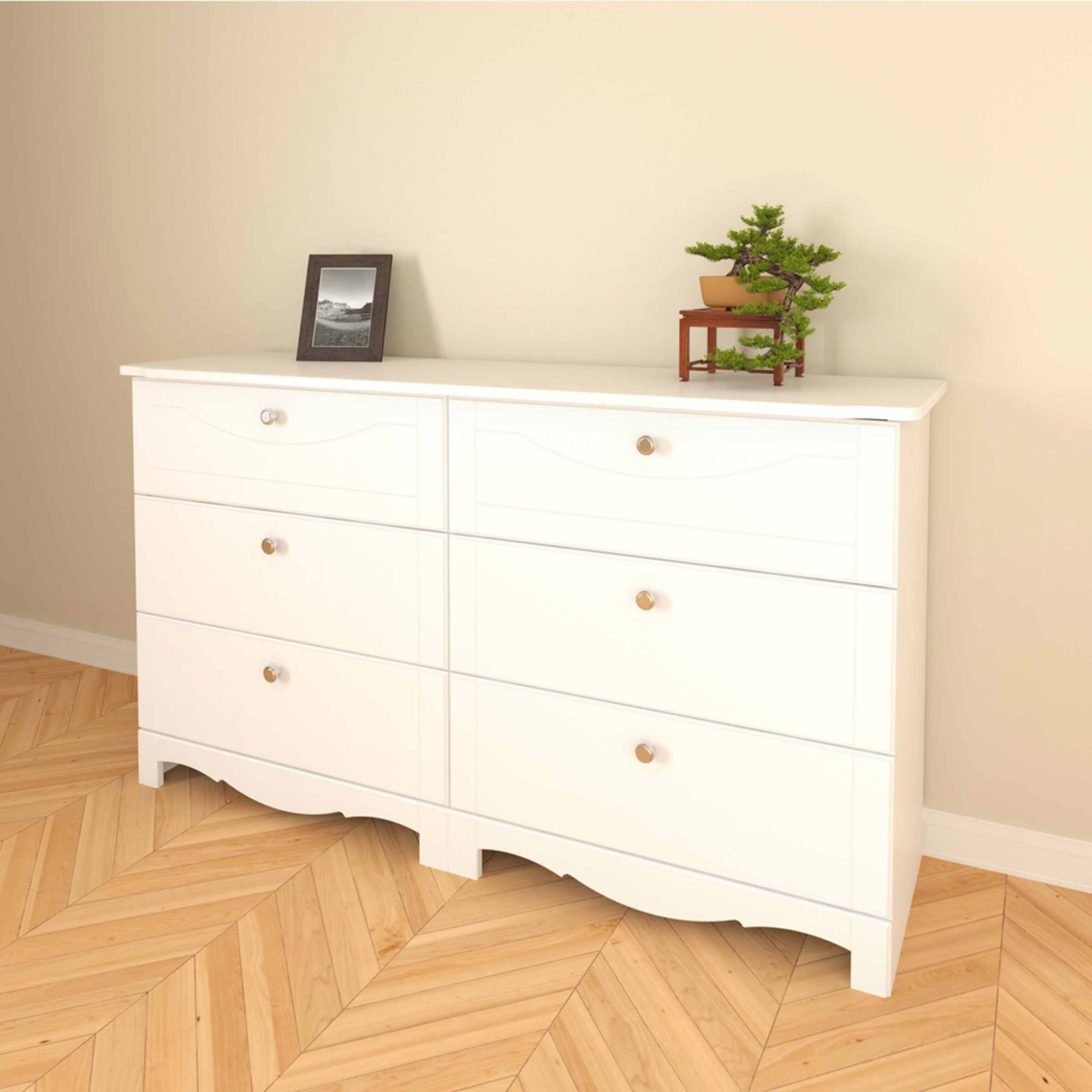 Dixie 6-Drawer Double Dresser by Nexera