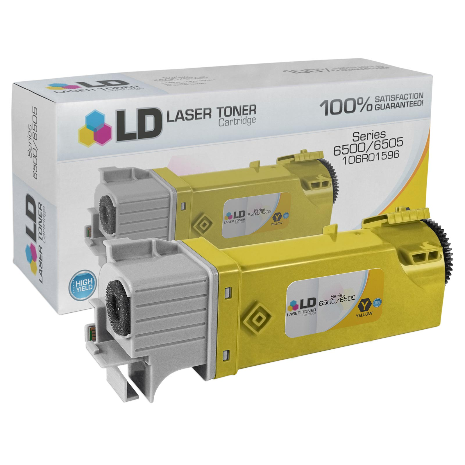 Compatible Xerox Phaser/WorkCentre 6500 106R1596 Yellow Toner (2,500 Pages)