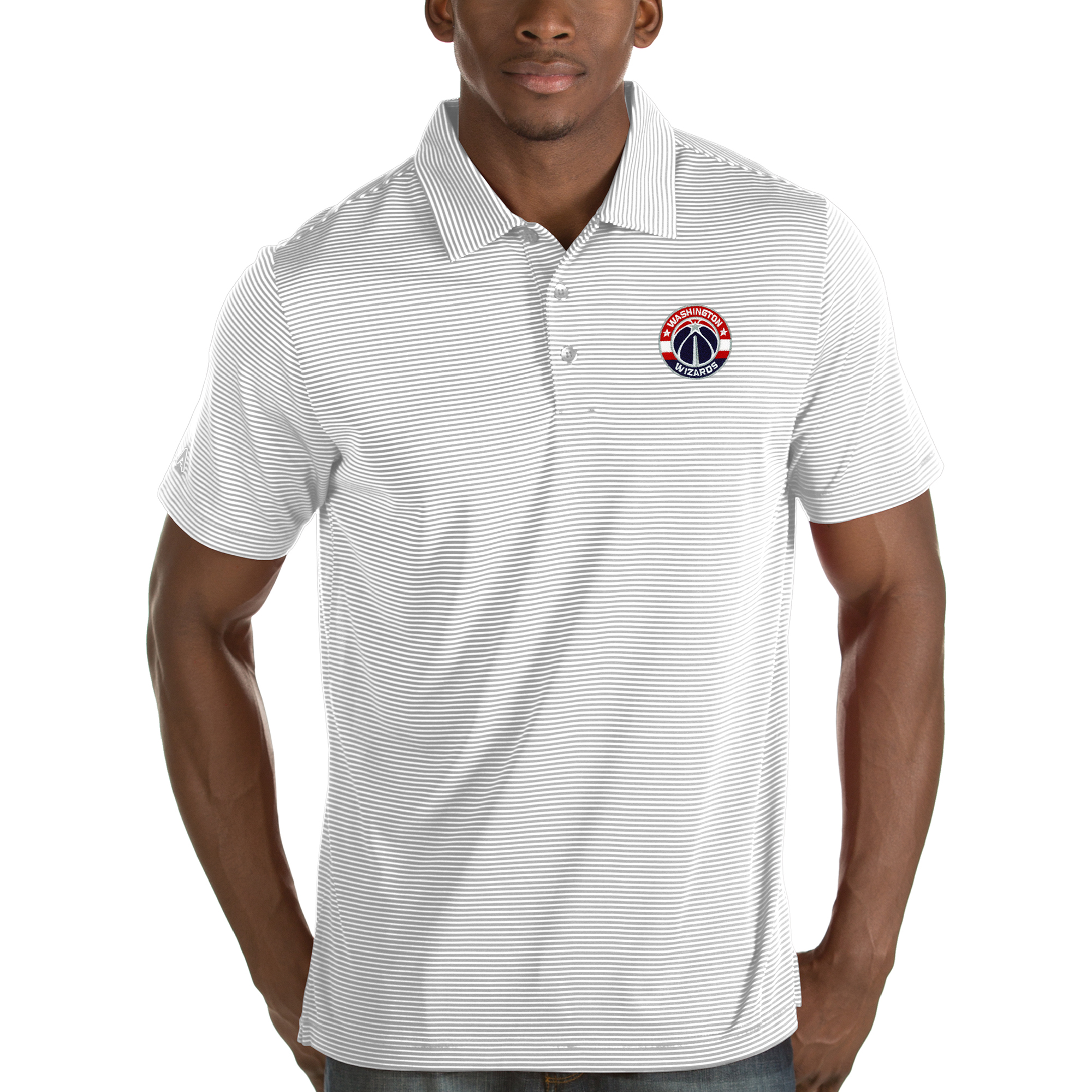 Washington Wizards Antigua Quest Polo - White