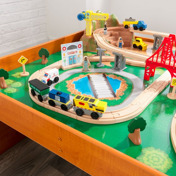 Kidkraft Ride Around Town Train Set Table With 100 Accessories