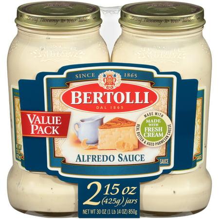 Bertolli Alfredo with Aged Parmesan Cheese Pasta Sauce 15 oz. (Pack of 2) Artichoke Heart Pasta Sauce