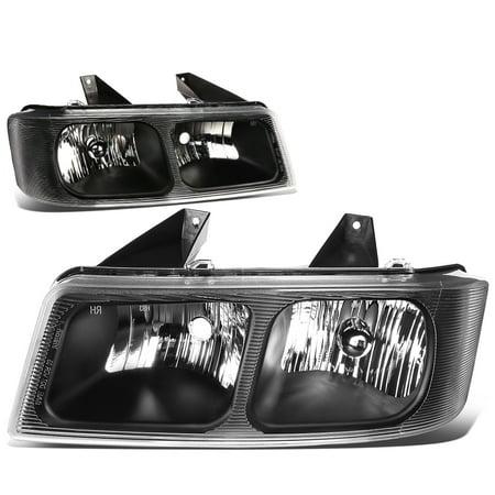 Savana Headlight - For 2003 to 2015 Chevy Express / GMC Savana 1500 2500 3500 Headlight Black Housing Headlamp 04 05 06 07 08 09 10 11 12 13 14 Left+Right
