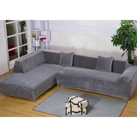 Ktaxon 2018 HOT L Shape Stretch Elastic Fabric Sofa Cover 3+3 Seats  Sectional Corner Couch Covers