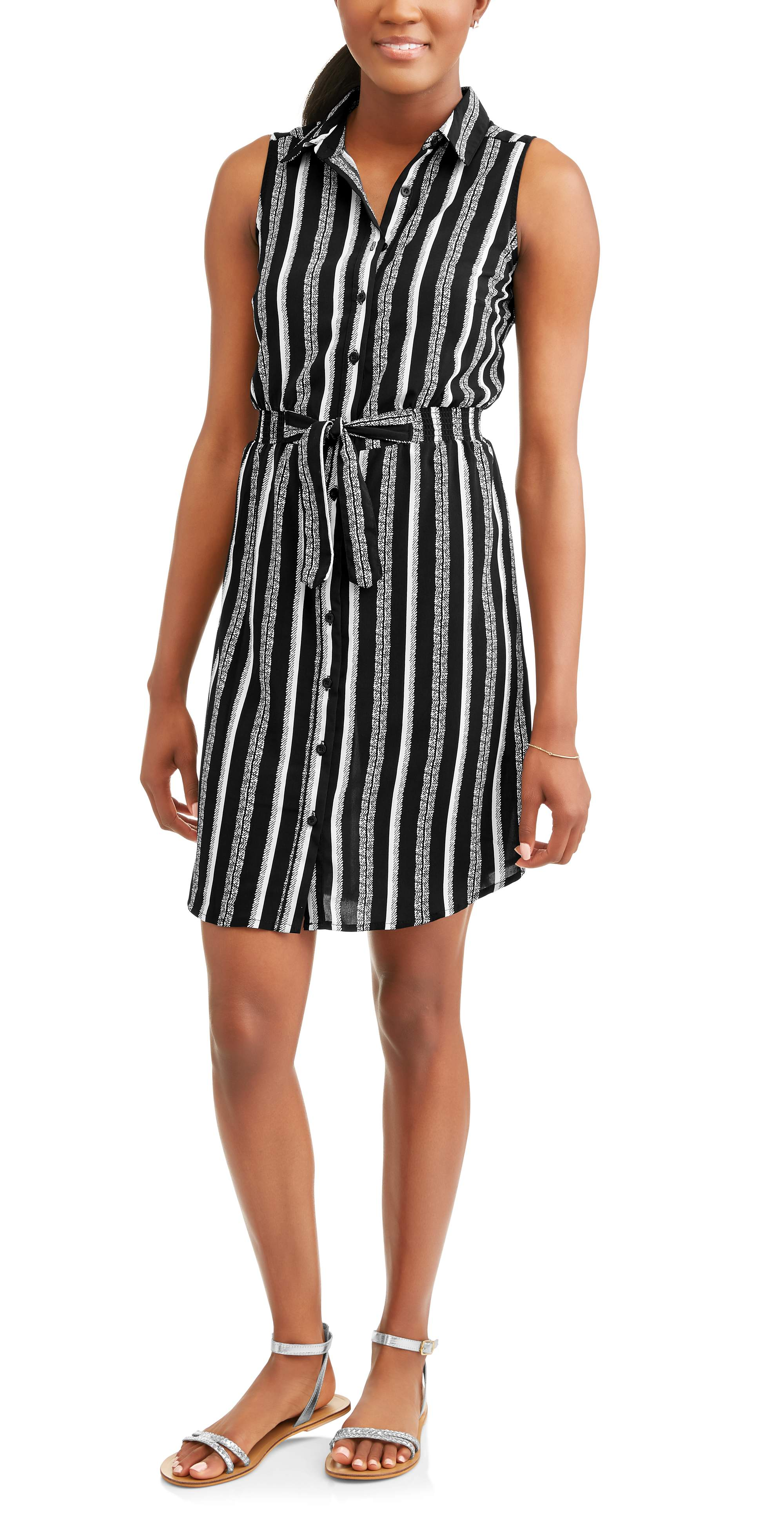 Striped Sleeveless Dress