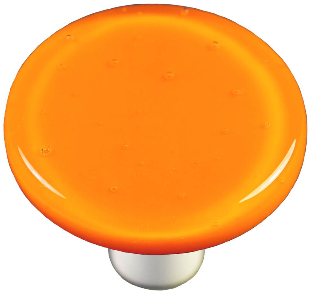 Round Knob in Pumpkin Orange (Aluminum)