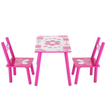 YOSOO Childrens Wooden Table and Chair Set Kids Childs Studying Table and Chair Set Home School ()
