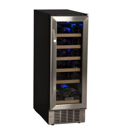 """EdgeStar CWR181SZ Stainless Steel 12"""" Wide 18 Bottle Built-In Single Zone Wine Cooler with LED Lighting and Reversible Door"""