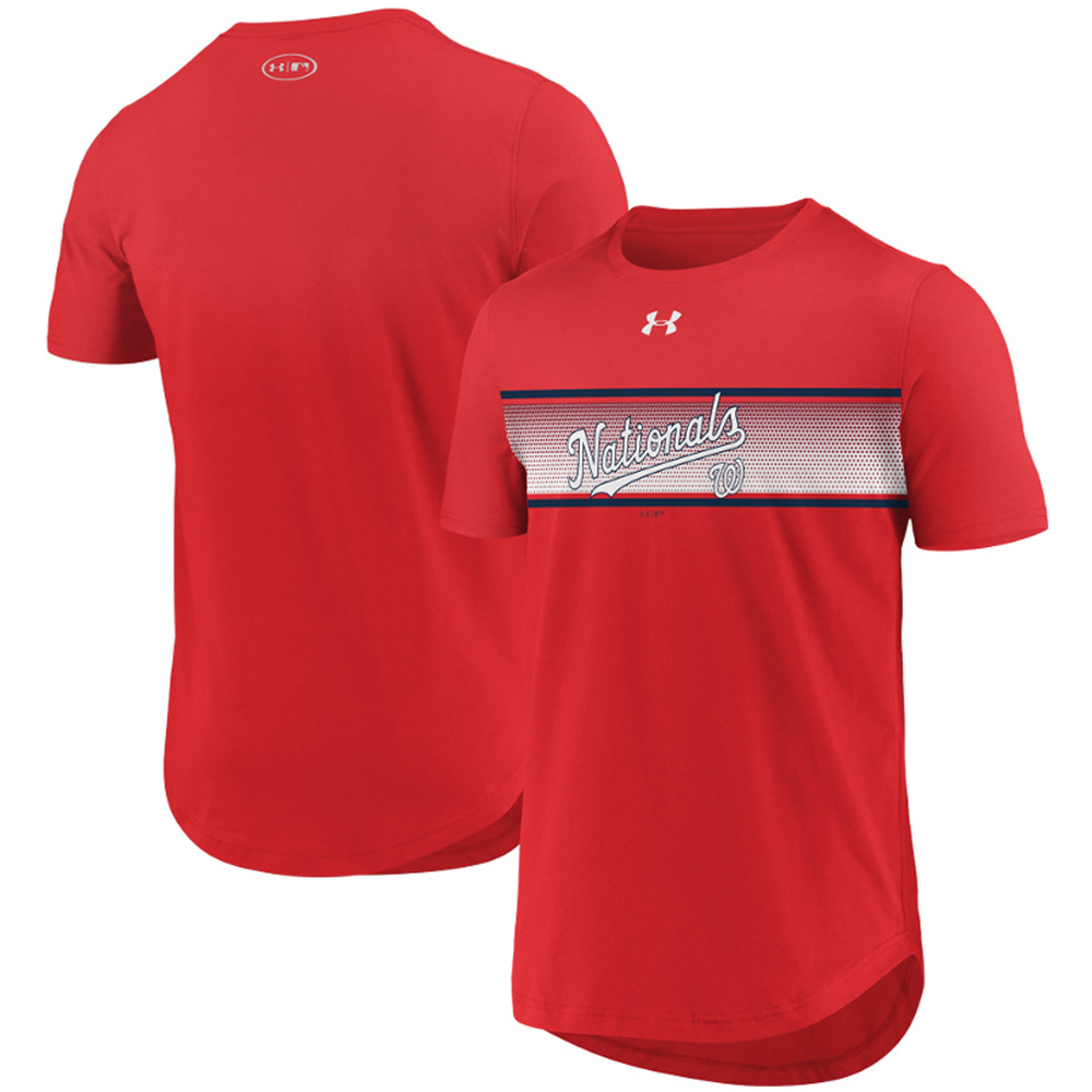 Washington Nationals Under Armour Seam To Seam Core T-Shirt - Red