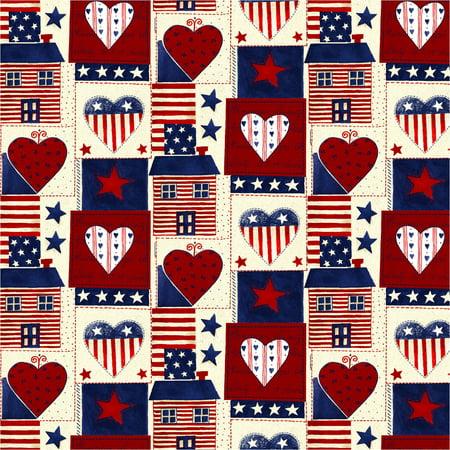 David Textiles Americana Heart 44