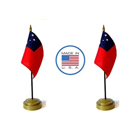 Made in The USA Flag Set. 2 Western Samoa Rayon 4