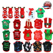 Pet Dog Santa Christmas Sweater Clothes T-Shirt Puppy Cat Pullover Hoodies Costume