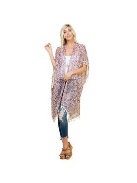 b4b99eb984 Product Image Riah Fashion Knee Length Floral Cardigan