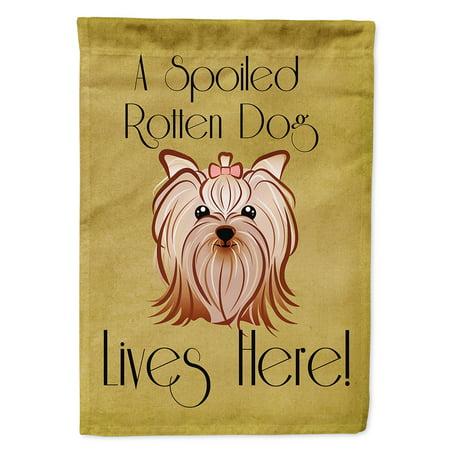 Yorkie Yorkshire Terrier Spoiled Dog Lives Here Garden Flag