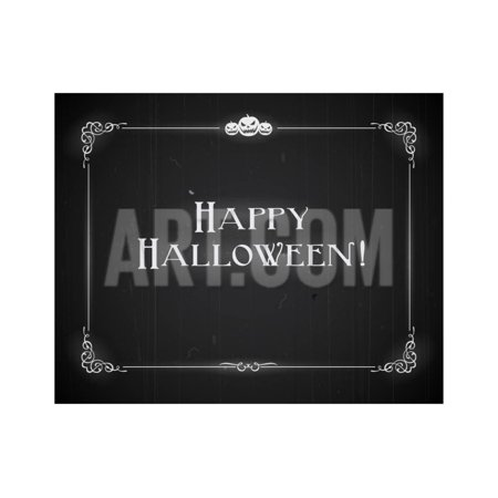 Silent Movie Ending Screen - Happy Halloween Print Wall Art By Real Callahan - Steam Halloween Sale End