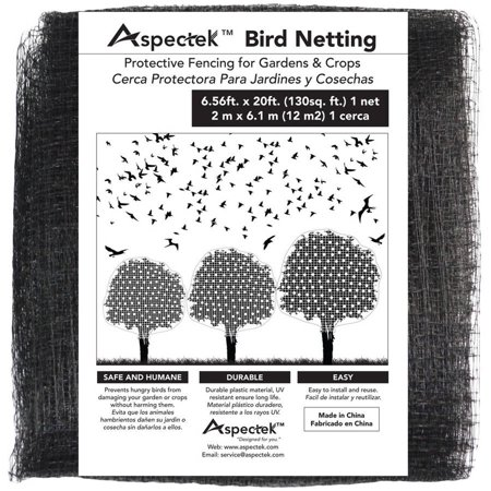 Bird Netting Protective Fencing for Gardens and Crops, 7' x 20' Netting Bird Block Garden Fence