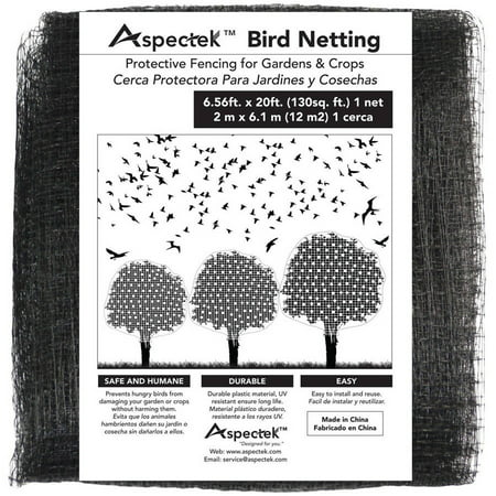 Image of Bird Netting Protective Fencing for Gardens and Crops, 7' x 20' Netting Bird Block Garden Fence