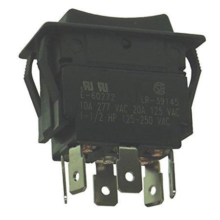 double pole heavy duty momentary rocker switch - dpdt / (on) - off - (on) : 30-695 Dpdt Momentary Switch Type