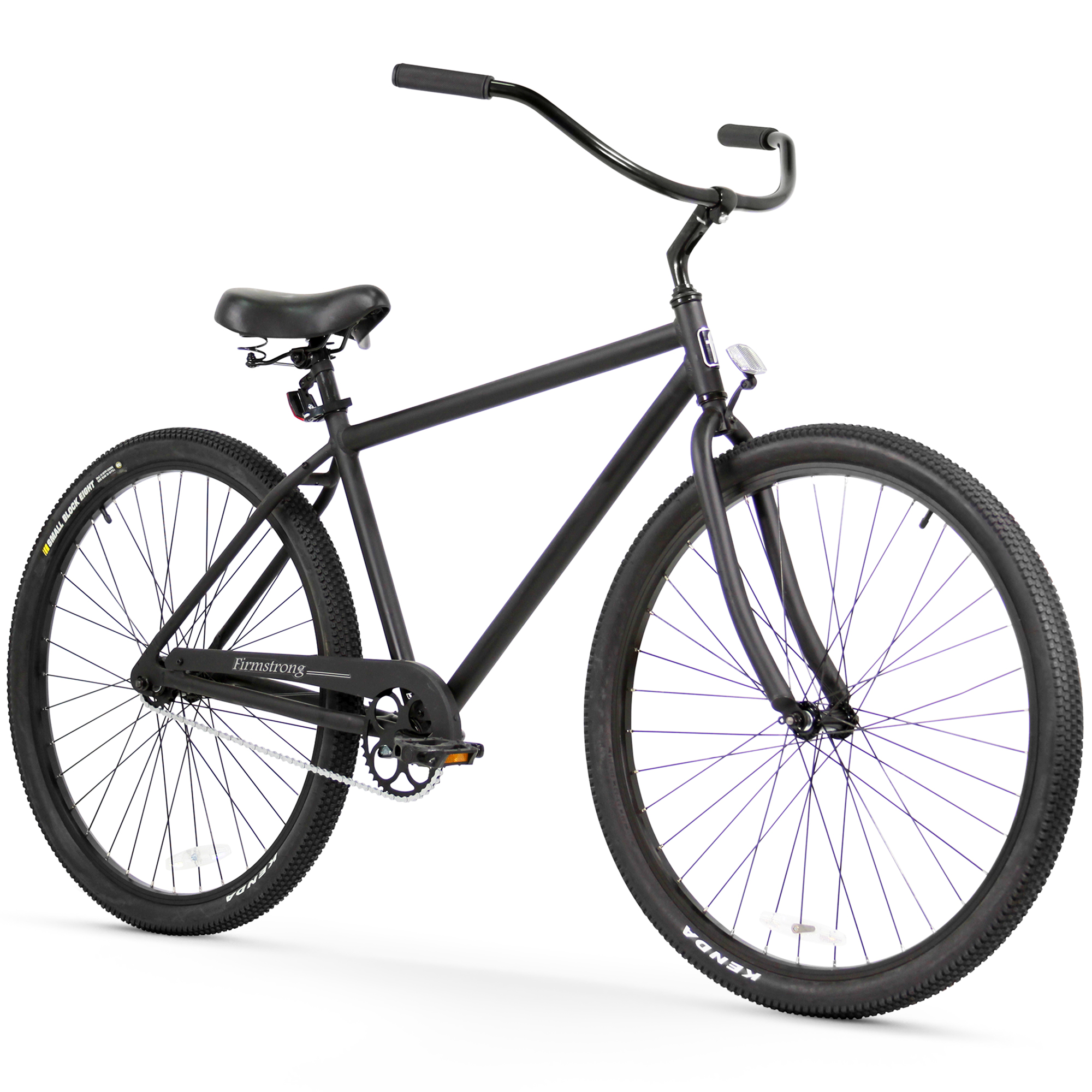 "Firmstrong Black Rock Men's 29"" Single Speed Beach Cruiser Bicycle, Matte Black"