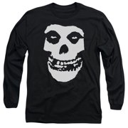 Misfits Fiend Skull Mens Long Sleeve Shirt Black