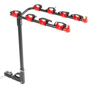 """4-Bike Hitch Mounted 1-1/4"""" or 2"""" Receiver Bicycle Carrier Rack"""