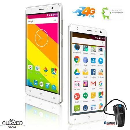 Indigi® 4G LTE Unlocked Smartphone QuadCore 2SIM Android 6.0 w/ Bluetooth Headset