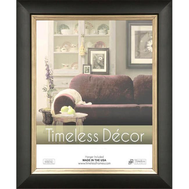 Timeless Frames 78139 Michelangelo Black Silver Wall Frame 8 X 10 In