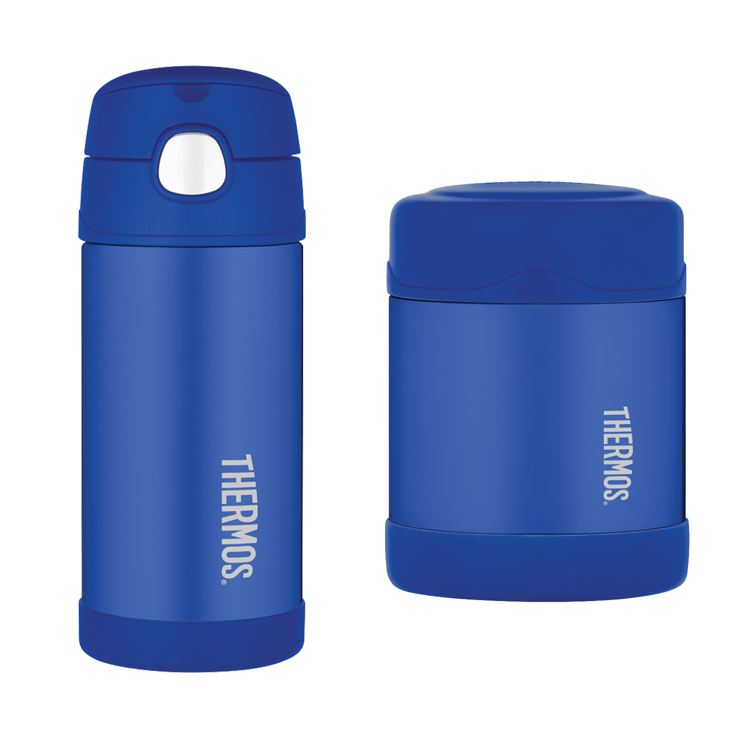 """""""Thermos FUNtainer 12-Ounce Bottle, Blue & Thermos FUNtainer 10-Ounce Food Jar, Blue """""""