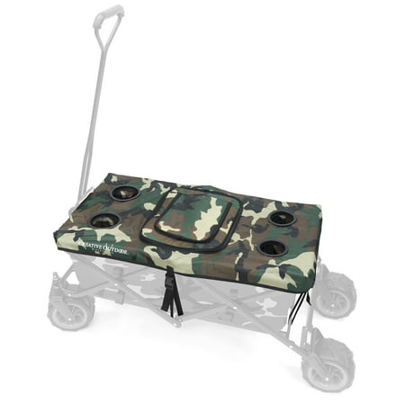 - Creative Outdoor Collapsible Folding Wagon Table Top Cooler Cover Accessory | Camo