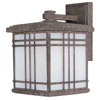 """Maxim 85694 Earth Tone / Frosted Seedy Glass Sienna 13"""" 1 Light Fluorescent Wall Sconce"""