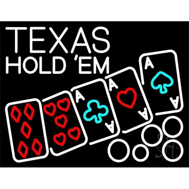 Texas hold em sign