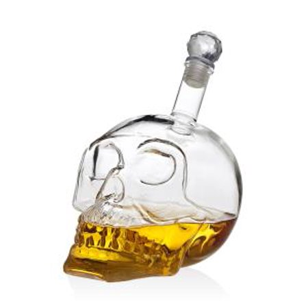 Crystal Head Vodka (700 ml Skull Head Skeleton Whiskey Liquor Vodka Clear Crystal Decanter)