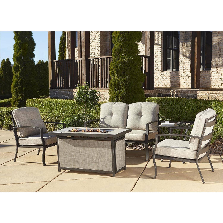 Cosco Outdoor Serene Ridge Aluminum Propane Gas Fire Pit Table With Lid,  Rectangular, Dark Brown   Walmart.com