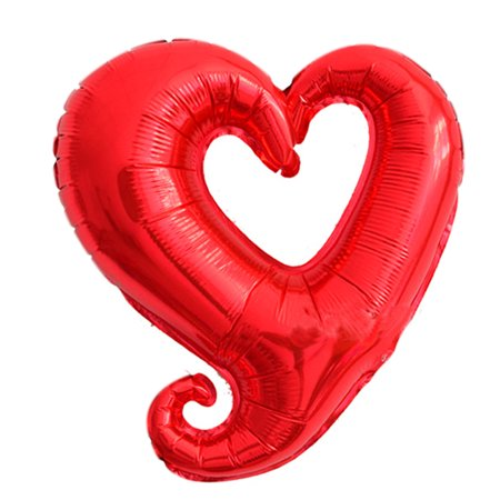 Unique Bargains Foil Heart Design Inflation Balloon Wedding Celebration Red 14.6 Inch](Balloon Car Design)