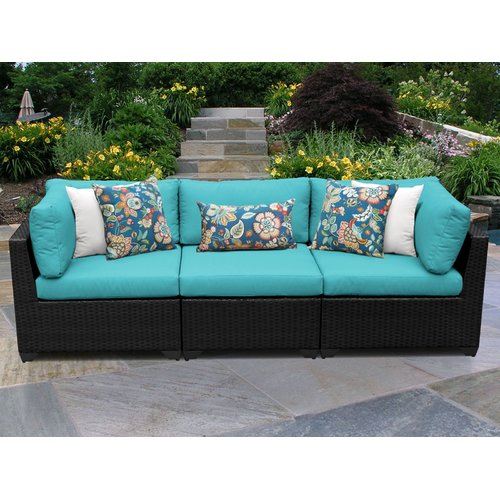 TK Classics Belle Corner Armless Sectional Piece with Cushions