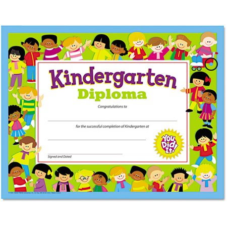 Trend colorful classic certificates kindergarten diploma for Pre k award certificate templates