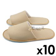 Neoplane Cloth Slipper Slippers Home Salon Spa Hotel Men Women Disposable Open Toes - 10 Pairs