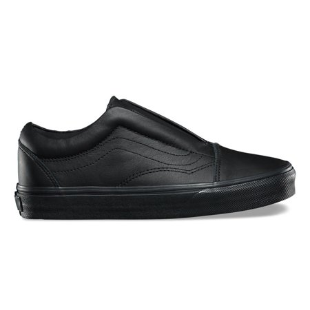 Vans - Vans Old Skool Laceless Leather Black Men s Classic Skate Shoes Size  8 - Walmart.com 477021b274b6