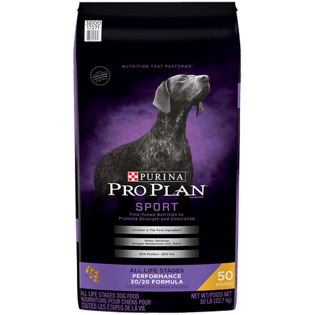 Pro Plan Weight (Purina Pro Plan High Protein Dry Dog Food; SPORT Performance 30/20 Formula - 50 lb. Bag )