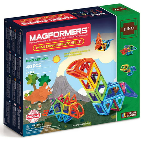 Magformers Mini Dinosaur 40-Piece Magnetic Construction -