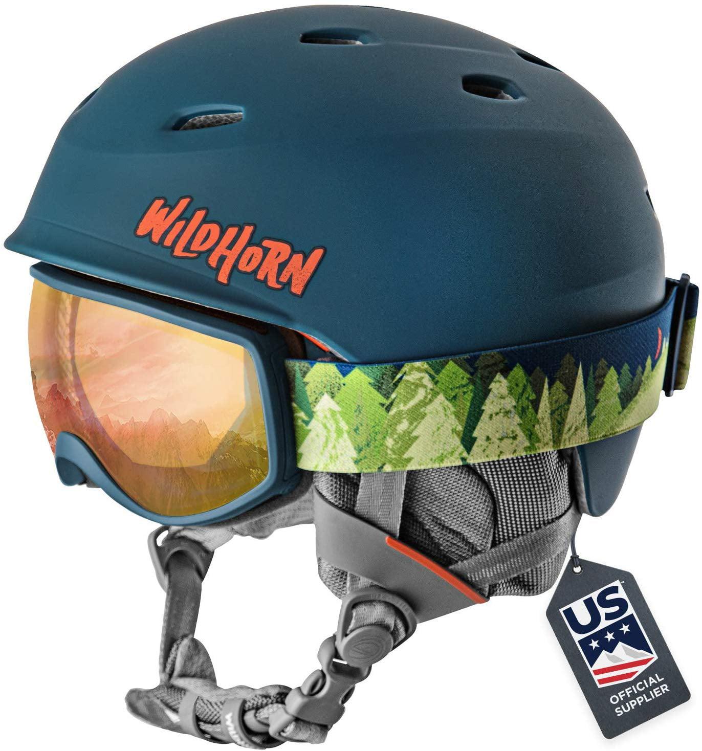 Wildhorn Spire Snow /& Ski Helmet w//Goggles Kids Youth ASTM Certified