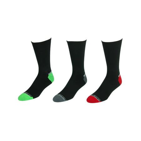 Size one size Men's Big and Tall Breathable Crew Socks (3 Pair Pack), Black Black 3 Pair Pack