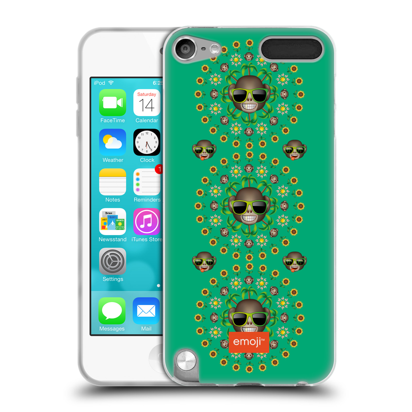 OFFICIAL EMOJI ASSORTED PRINTS SOFT GEL CASE FOR APPLE IPOD TOUCH MP3