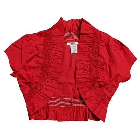 - Women's Bolera Shrug Top, Red (M) W5A
