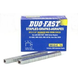 """1//2/"""" STAPLES 1//2/"""" wide,20 gauge,Chisel Point 5000//PACK DUO-FAST 5016C #0005223"""